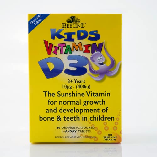 Kids Vitamin D3 chewable tablets